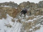 Marcin w kominie Housa na 6500m